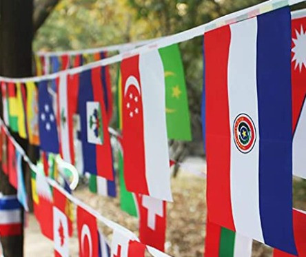 Flags of the World Banner for Classroom Decor