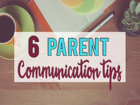 6 Parent Communication Tips for New Teachers