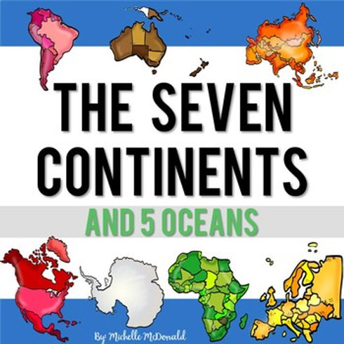 The Seven Continents & Five Oceans Reading Passages Activities (Print & Digital)