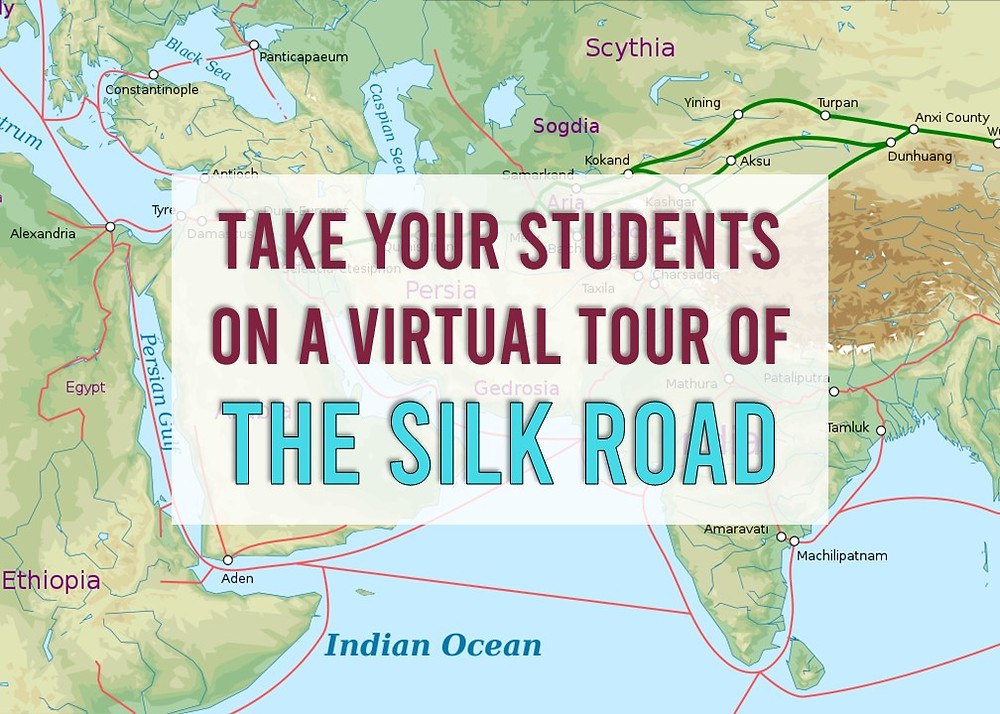 Take your students on a virtual tour of the Silk Road with this interactive virtual field trip perfect for your world civilizations class.