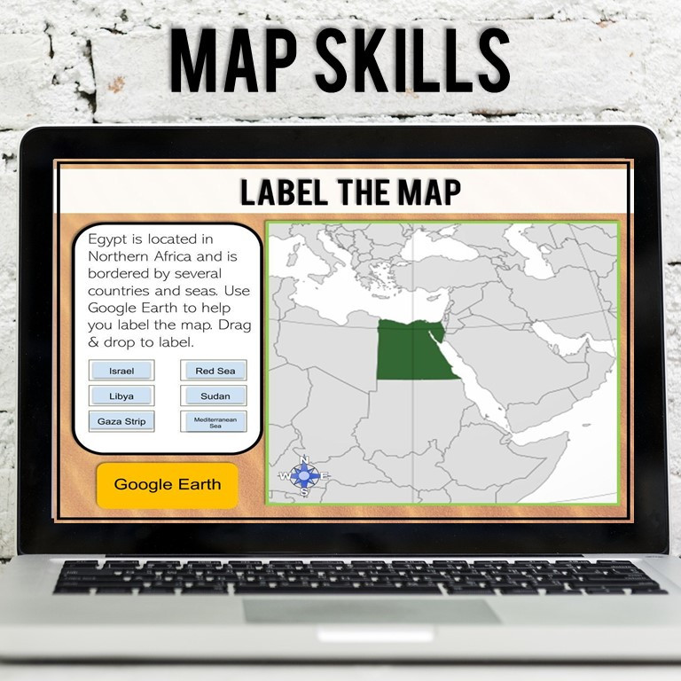 Ancient Egypt Geography Virtual Field Trip for middle school to use on google classroom