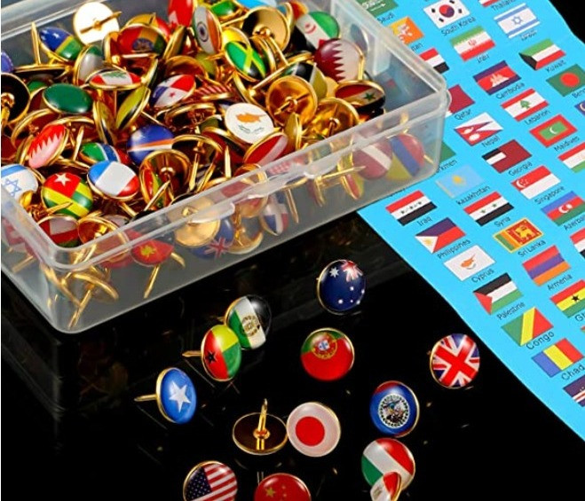 Countries of the World Push Pins for Teachers