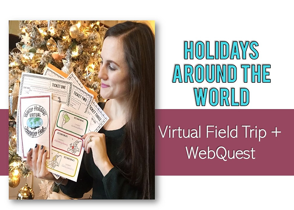 Winter Holidays Around the World Scavenger Hunt for Upper Elementary or Middle School