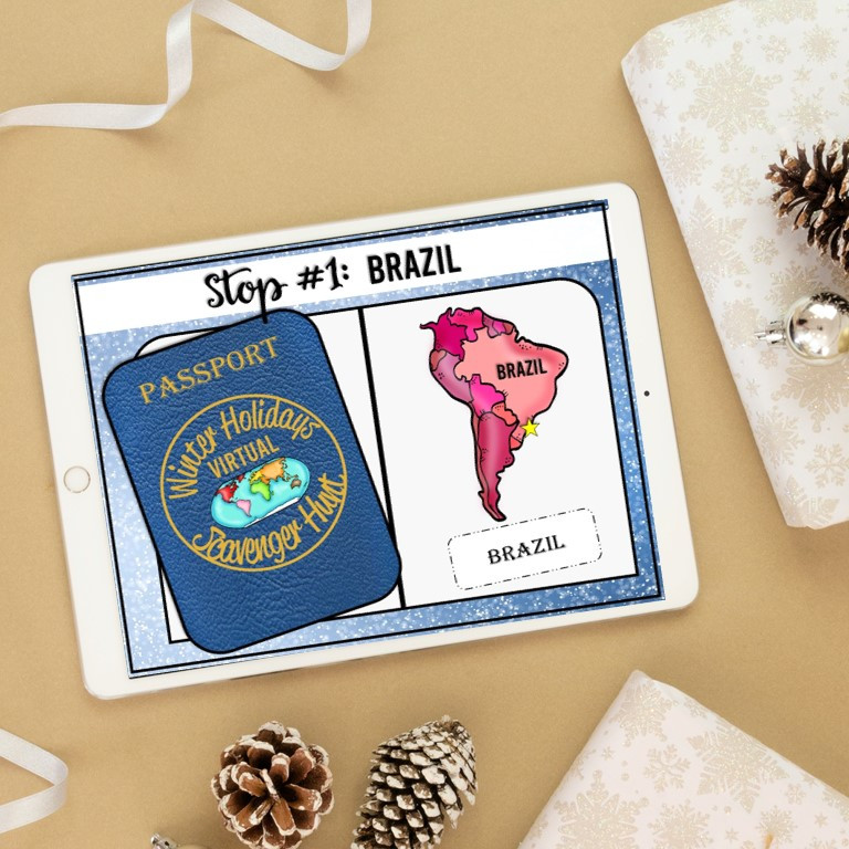 A digital winter holidays around the world for google slides