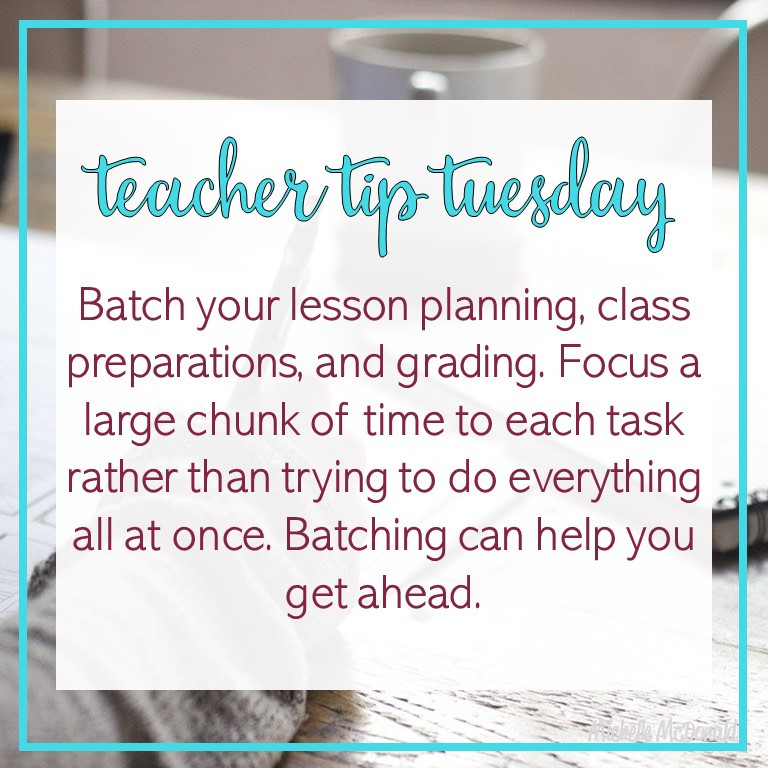 lesson planning tips for new teachers that are struggling with time management and need help batching lesson plans during preps