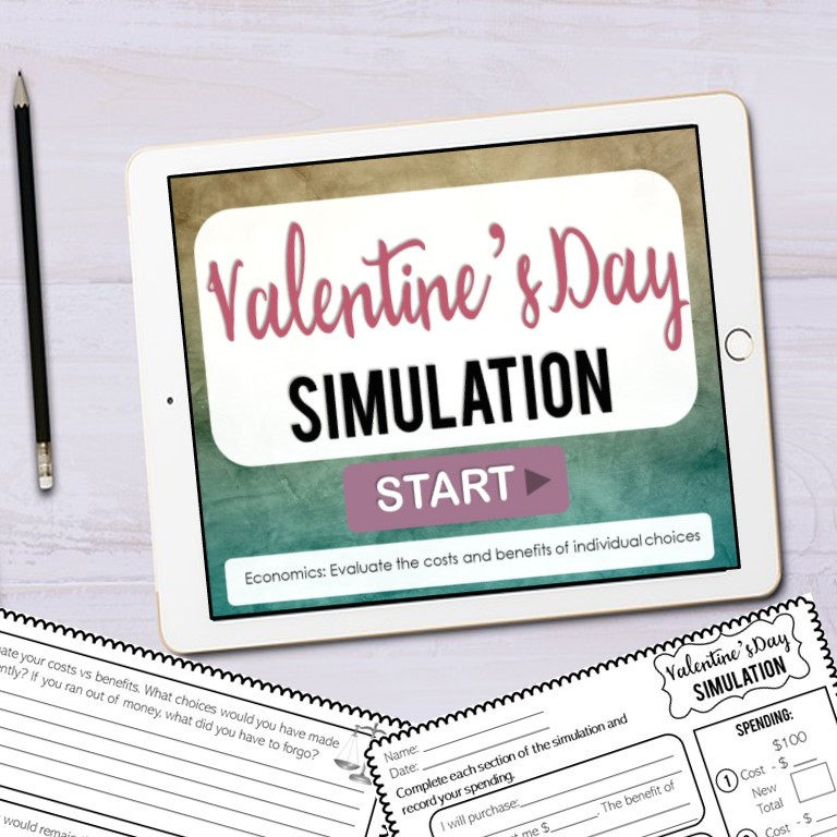 Valentine's Day Simulation Activity for Upper Elementary
