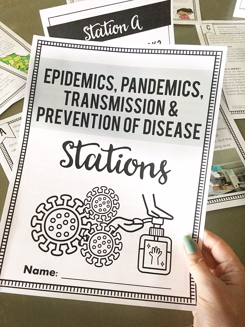 Spread of Disease Station Activities for Middle School