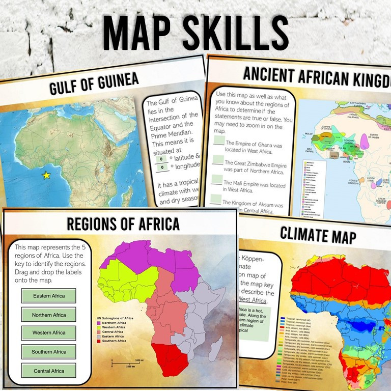 Ancient Africa Kingdoms Map Skills