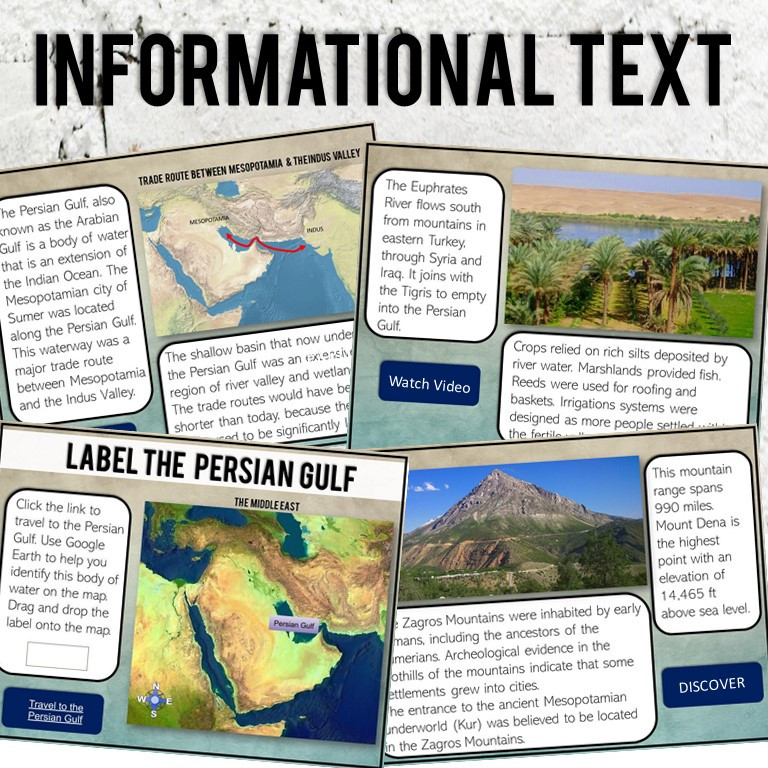 Digital Learning Activity for teaching 6th grade world civilizations and Ancient Mesopotamia