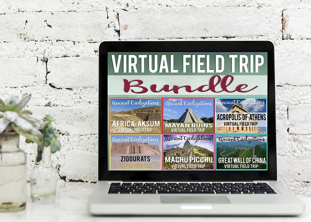 Virtual Field Trips for World Civilizations Study perfect for middle school or upper elementary