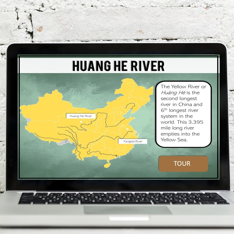 Ancient China Geography Activity for Google Slides