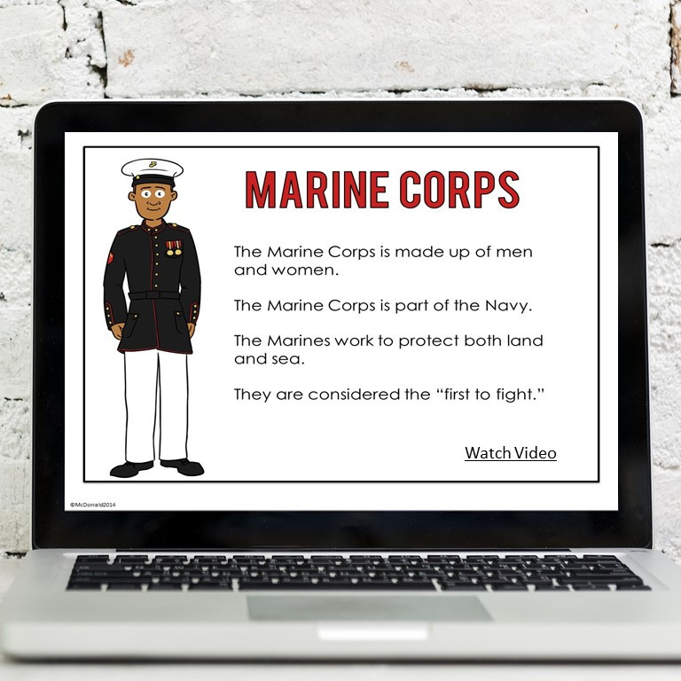US Military Branches Google Compatible Lesson
