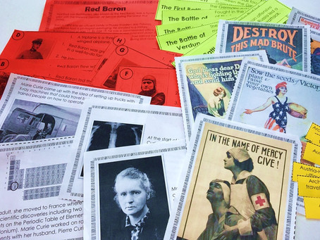 World War I Unit with Reading Passages, Stations, and Activities