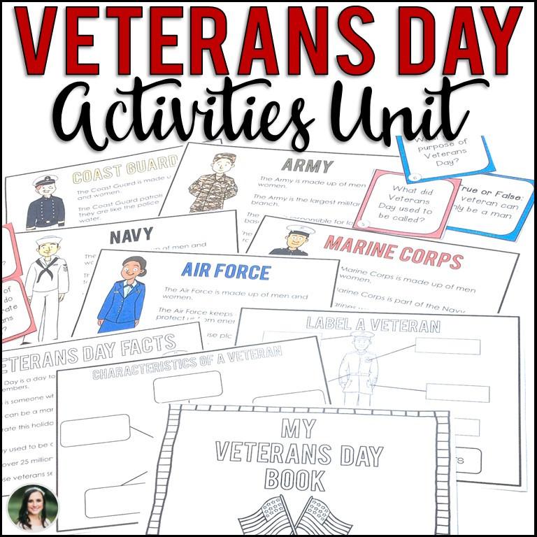 Veterans Day Unit Activities