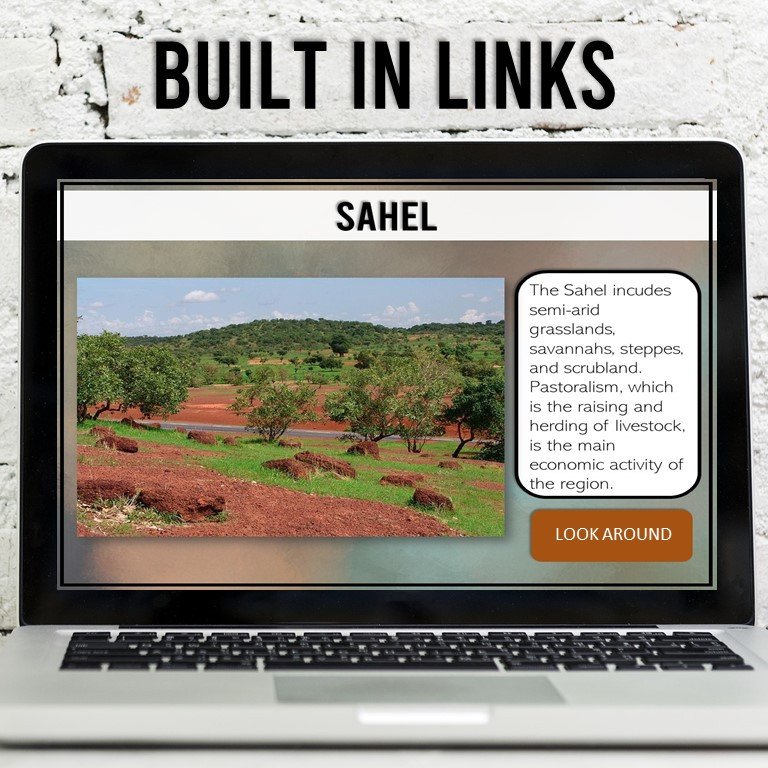 Africa Sahara and Sahel Activities for Middle School Geography