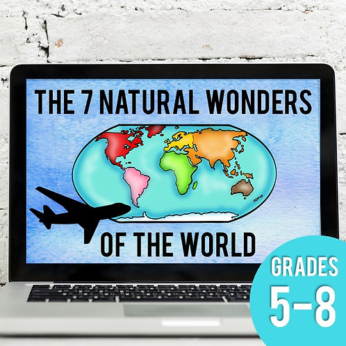 Seven Natural Wonders of the World: Virtual Field Trip (Distance Learning)