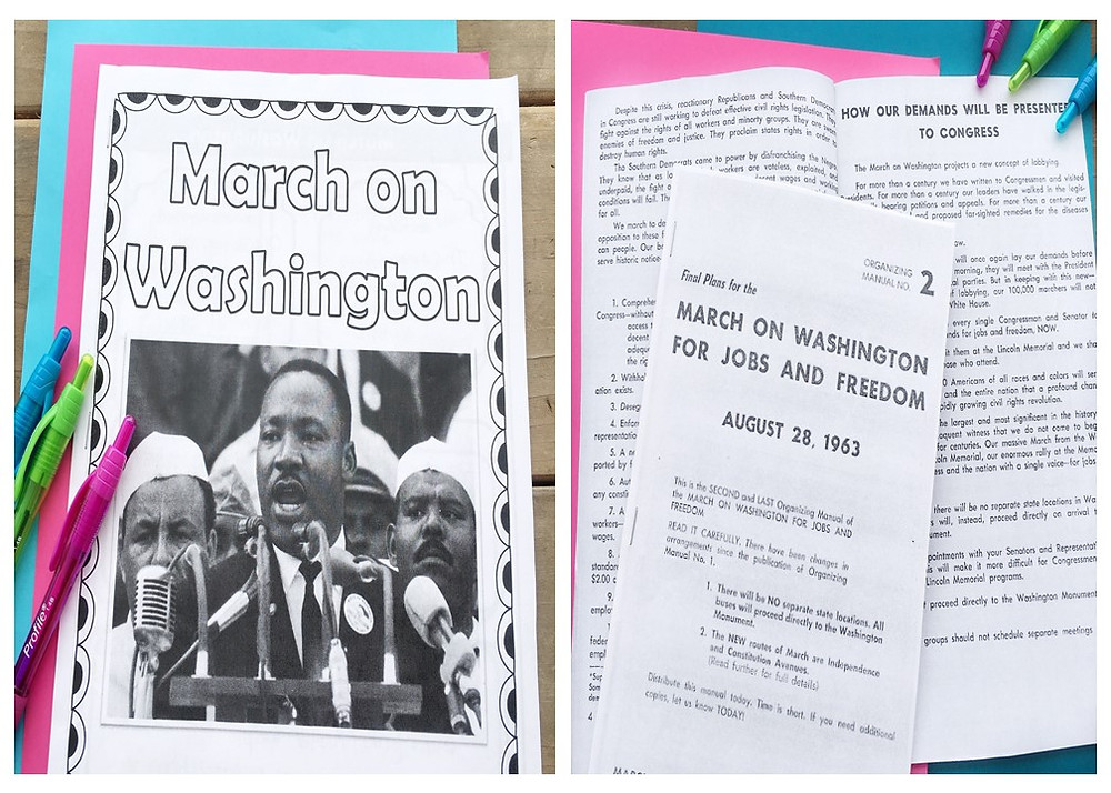 Civil Rights Movement Lesson Plan for the MLK and the March on Washington
