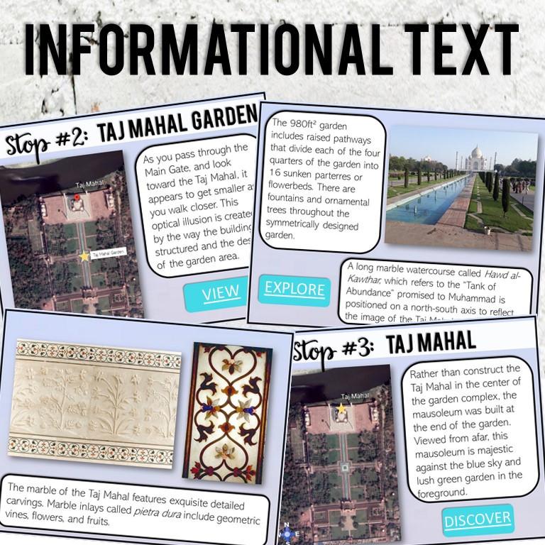 Taj Mahal activities for digital or at home learning