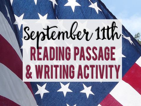 September 11th Reading Passage and Writing Prompts
