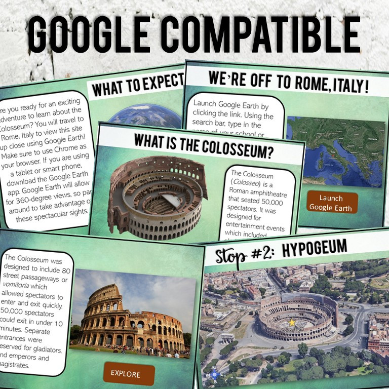 Roman Colosseum Virtual Field Trip. A digital activity for middle school