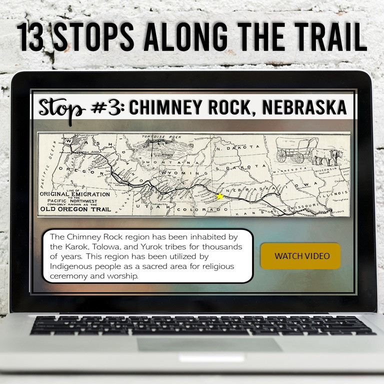 Oregon Trail Map Skills and Interactive Activity