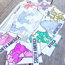 Continents and Oceans Activities and Lessons
