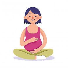 femme-enceinte-faisant-du-yoga-detente-c