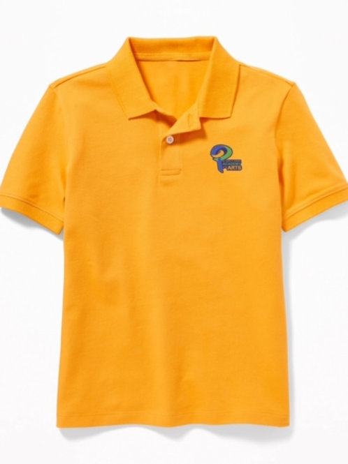 Gold Polo w/logo Youth Small