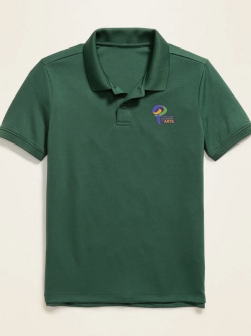 Green Polo w/logo Youth Large