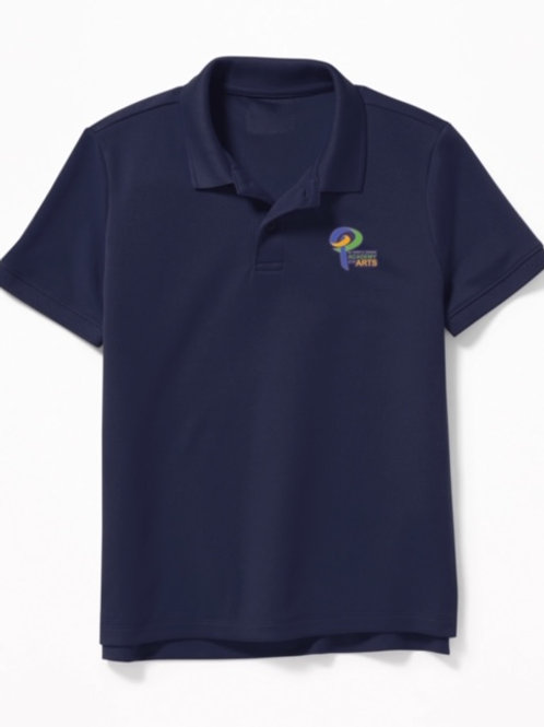Navy Blue Polo w/logo Youth XL