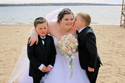 Bride and her boys