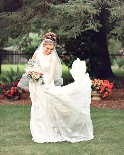 Bride Loving Her Dress