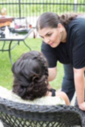 On-location bridal makeup