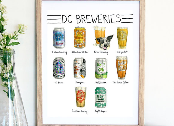 DC Breweries Print / Amy Wike
