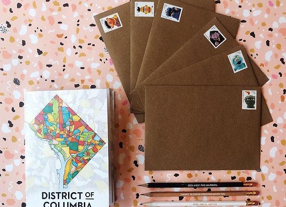 Stay Home DC Correspondence Kit / Cherry Blossom Creative