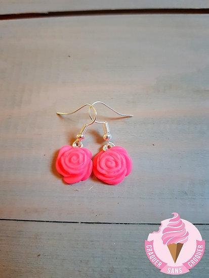 BO fleurs rose fluo