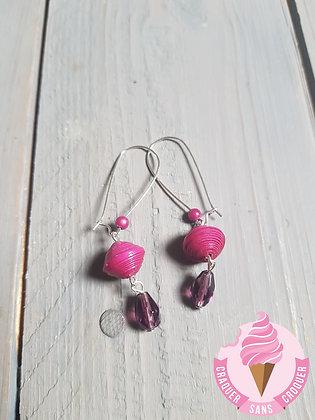 BO perles papier rose