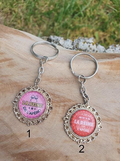 Porte clés reine de l'apéro
