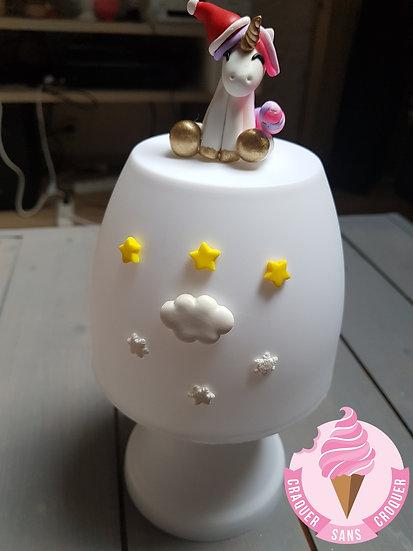 Veilleuse lampe licorne noel