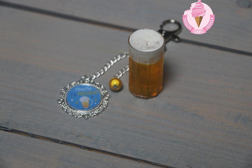 Porte clés bière