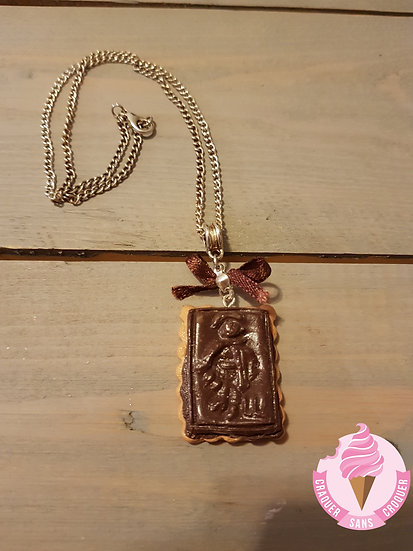 Collier biscuit chocolat