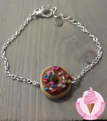 Bracelet donut's chocolat
