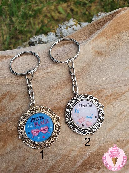 Porte clés plage & bronzette