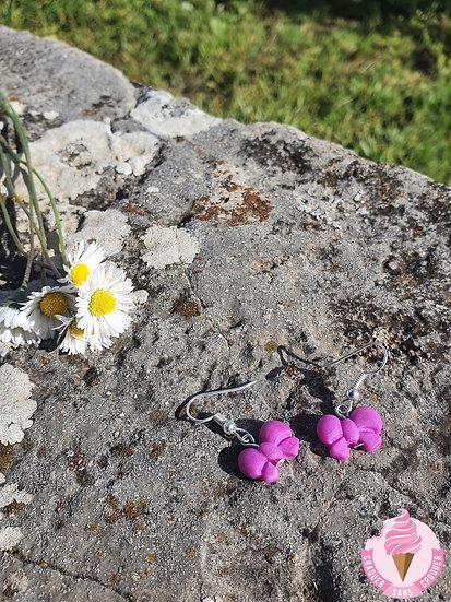 BO Mini noeud violet