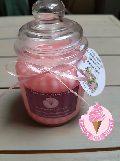 Bougie parfumée Malabar fraise [40H]