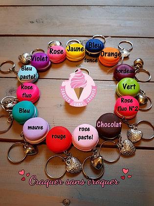 Porte clés macaron