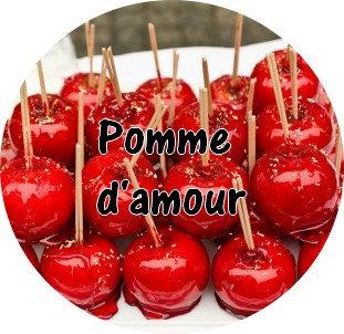 Galet parfumé pomme d'amour