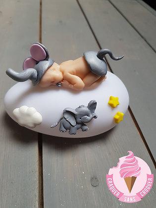 Veilleuse bébé éléphant