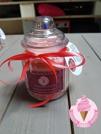 Bougie parfumée fraise [40H]