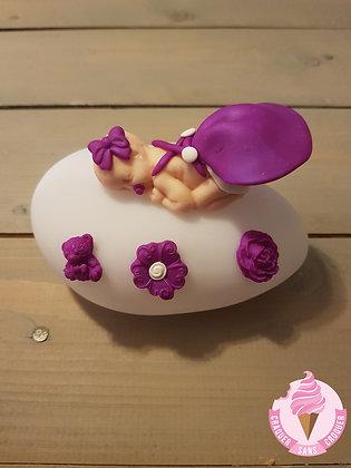 Veilleuse fille violet N.2